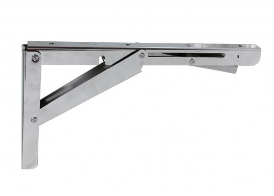 Wenig Platz an Deck? Mit diesem klappbaren Edelstahl-Beschlag für Tisch- oder Arbeitsplatte wird der Raum optimal genutzt. Die Montage ist an glatten Flächen möglich. (Bild 6 von 7)