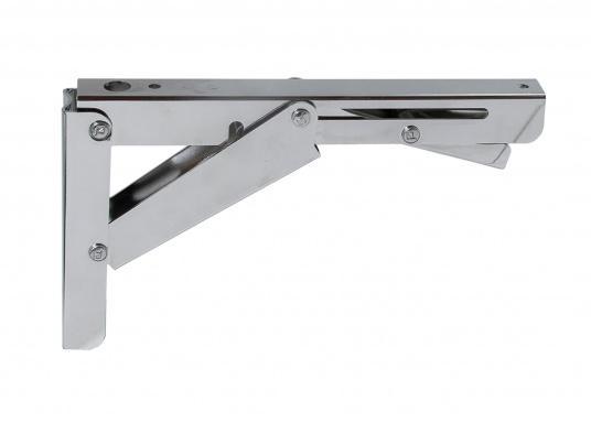 Wenig Platz an Deck? Mit diesem klappbaren Edelstahl-Beschlag für Tisch- oder Arbeitsplatte wird der Raum optimal genutzt. Die Montage ist an glatten Flächen möglich. (Bild 2 von 7)