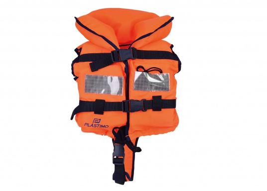 Pour les petits équipiers du bord ! Gilet de sauvetage 100 N. La tête du naufragé, conscient ou inconscient est gardée hors de long.
