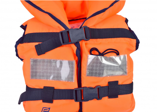 Pour les petits équipiers du bord ! Gilet de sauvetage 100 N. La tête du naufragé, conscient ou inconscient est gardée hors de long. (Image 2 de 4)