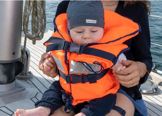Pour les petits équipiers du bord ! Gilet de sauvetage 100 N. La tête du naufragé, conscient ou inconscient est gardée hors de long. (Image 3 de 6)