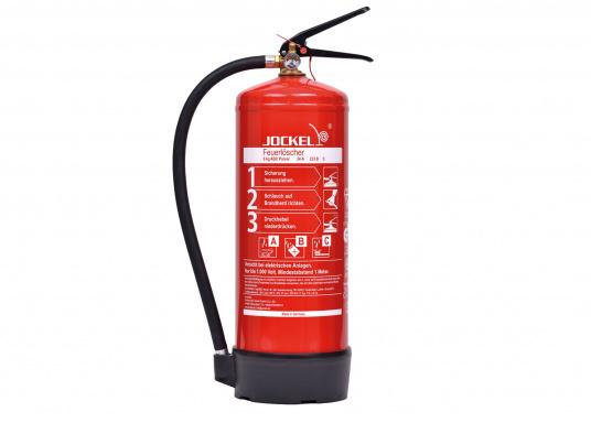 Diese Pulverlöscher von JOCKEL sind universell einsetzbar bei Entstehungsbränden der Brandklassen A, B und C.