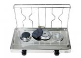 Stainless Steel Gas Cooker / 2-Burner / without gimbal