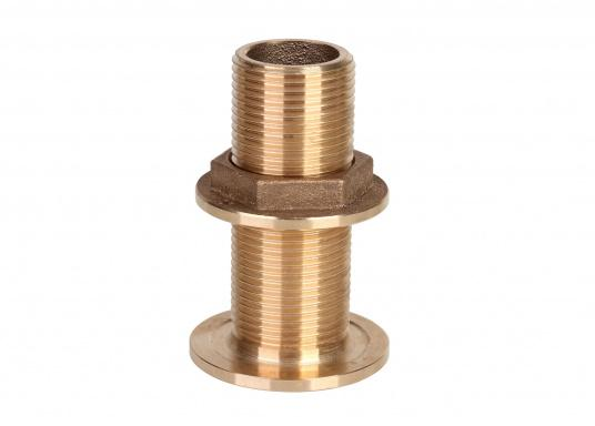 Hochwertige Borddurchführungen, gefertigt aus der seewasserbeständigen BronzelegierungCB491K(Rotguss). Durch den hohen Kupfergehalt in der Legierung sind Ventile und Fittinge aus Bronze ideal für den dauerhaften Einsatz im Unterwasserbereich geeignet. (Bild 2 von 2)