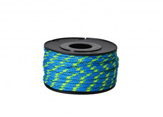 2-braided cord with a core, available in two different diameters. The cords come delivered on small spools in the lengths of 25 m and 15 m.