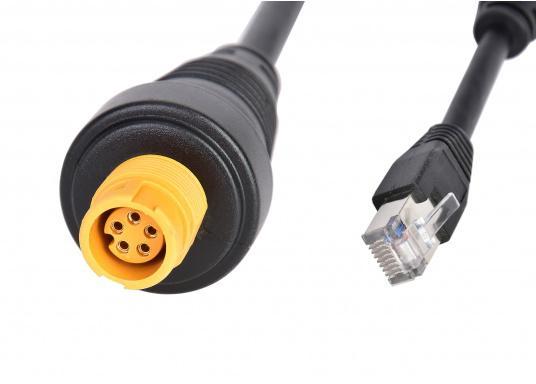 Adapterkabel mit RJ-45-Stecker und Navico Ethernet-Buchse. Länge: 15 cm. Kompatibel mit Geräten der Marken Simrad, Lowrance und B&G. (Bild 2 von 2)