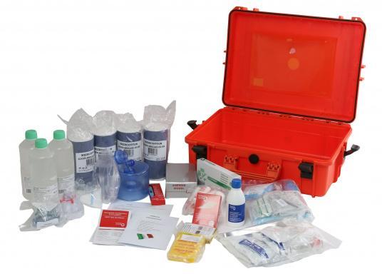 Erste-Hilfe-Koffer TABELLA A, speziell für italienische Gewässer. Vorgeschrieben für: Küstenschifffahrt, nationale und internationale Küstenschifffahrt, Küstenfischerei und Freizeitschifffahrt. (Bild 5 von 9)