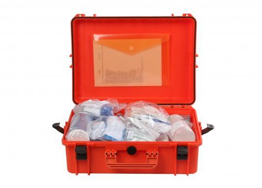 Erste-Hilfe-Koffer TABELLA A, speziell für italienische Gewässer. Vorgeschrieben für: Küstenschifffahrt, nationale und internationale Küstenschifffahrt, Küstenfischerei und Freizeitschifffahrt. (Bild 4 von 9)