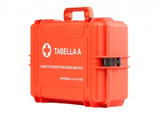 Erste-Hilfe-Koffer TABELLA A, speziell für italienische Gewässer. Vorgeschrieben für: Küstenschifffahrt, nationale und internationale Küstenschifffahrt, Küstenfischerei und Freizeitschifffahrt. (Bild 2 von 9)