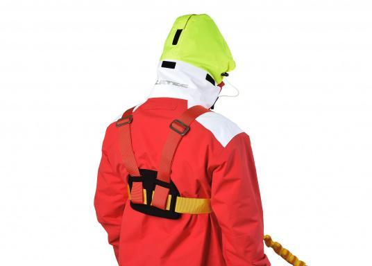 PLASTIMO Lifebelt 2 für Personen ab 50 kg. Dank der verstellbaren Gurte kann der Lifebelt auf jede Körperform ideal angepasst werden. Das weiche Rückenteil sorgt für einen hohen Tragekomfort. (Bild 6 von 6)