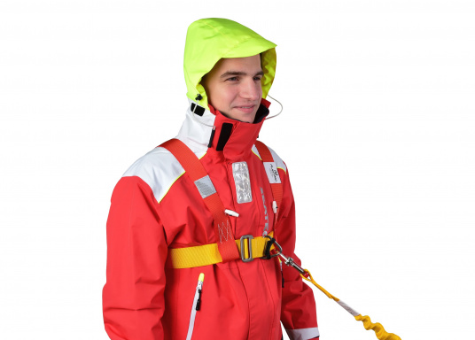 PLASTIMO Lifebelt 2 für Personen ab 50 kg. Dank der verstellbaren Gurte kann der Lifebelt auf jede Körperform ideal angepasst werden. Das weiche Rückenteil sorgt für einen hohen Tragekomfort. (Bild 5 von 6)