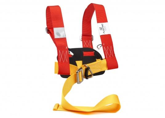 PLASTIMO Lifebelt 2 für Personen ab 50 kg. Dank der verstellbaren Gurte kann der Lifebelt auf jede Körperform ideal angepasst werden. Das weiche Rückenteil sorgt für einen hohen Tragekomfort.