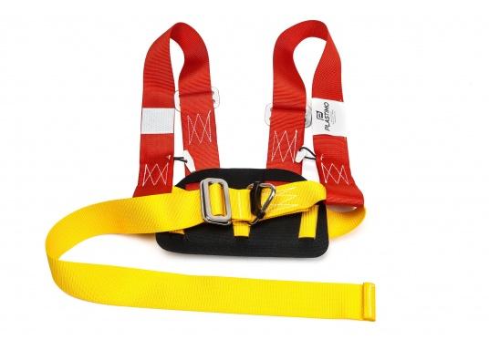 PLASTIMO Lifebelt 2 für Personen ab 50 kg. Dank der verstellbaren Gurte kann der Lifebelt auf jede Körperform ideal angepasst werden. Das weiche Rückenteil sorgt für einen hohen Tragekomfort. (Bild 2 von 6)