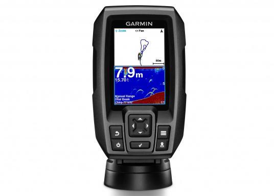 Ungeschlagene CHIRP-Fishfinder Bilder mit GPS sowie 3,5 Zoll großen Display Mit dem STRIKER 4-Fishfinder ist die Fischsuche so einfach wie nie zuvor. Markieren Sie Angelplätze, Slipanlagen und Docks, um problemlos dorthin zurückzukehren. (Bild 10 von 12)