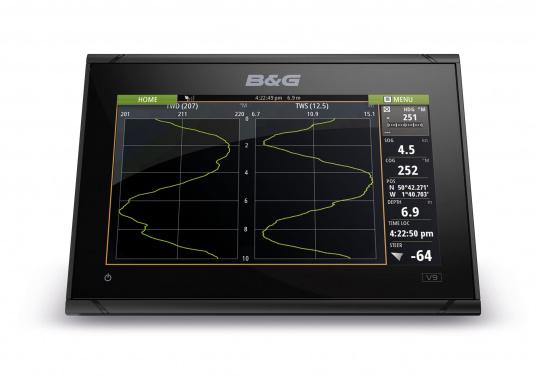 """L' afficheur traceur de carte VULCAN 9FS de B&G est le moyen idéal d'accroître les capacités des petites consoles centrales des bateaux sportifs ou croiseurs et cela grâce à la compatibilité """"plug and play"""" pour radar Broadband de Simrad et les systèmes radar Halo Pulse Compression. (Image 6 de 6)"""