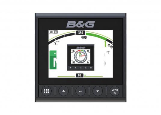 Die B&G Triton² Instrumentenanzeige ist das klarste Mehrzweck-Segelinstrument- und Autopilot-Display, mit einem 4,1-Zoll Farbbildschirm, der optische gebunden ist, um keine Kondensation zuzulassen. (Bild 2 von 12)
