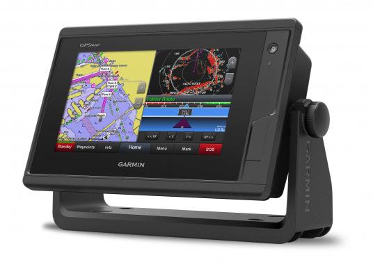 Kartenplotter GPSMAP 722 mit 7 Zoll großem Touchscreen und intuitiver Bedienung sowie NMEA2000 und NMEA 0183 Unterstützung. (Bild 2 von 4)