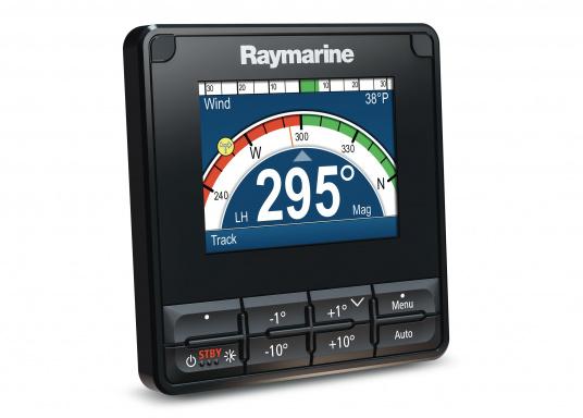 Die Raymarine Autopilot-Bedieneinheit p70s ist eine Bedieneinheit mit Drucktastenbetrieb, die hauptsächlich für Segelboote konzipiert wurde.