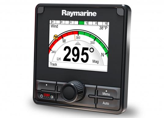 Die Raymarine Autopilot-Bedieneinheit p70Rs ist mit der Kombination aus Drucktasten- und Drehknopfbedienelementen auf Motorboote ausgerichtet. (Bild 3 von 3)