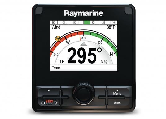 Die Raymarine Autopilot-Bedieneinheit p70Rs ist mit der Kombination aus Drucktasten- und Drehknopfbedienelementen auf Motorboote ausgerichtet. (Bild 2 von 3)