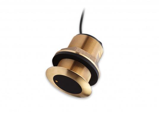 Bronze-Durchbruchgeber CHIRP CPT-S mit flachem Durchbruch-Design und integriertem Temperatursensor. 20 Grad Kippwinkel.