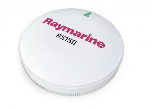 Der RS150 GPS ist ein hochleistungsfähiger 72-Kanal GPS-Sensor zur abgesetzten Montage für die Raymarine-Navigationssysteme. Verbesserte Genauigkeit dank 10-Hz-Positions-Updates. Der RS150 fungiert auch gleichzeitig als GNSS-Empfänger und unterstützt das globale Navigationssatellitensystem GLONASS.
