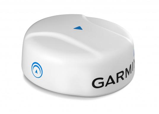 Das Garmin GMR Fantom 24-Solid-State-Radom-Radargerät hat eine 24 Zoll (61 cm) große Kuppel und eine Leistung von 40 W. Es unterstützt die MotionScope-Technologie, die mithilfe des Doppler-Effekts in Bewegung befindliche Ziele erkennt und markiert, um mögliche Kollisionen zu vermeiden. (Bild 2 von 3)