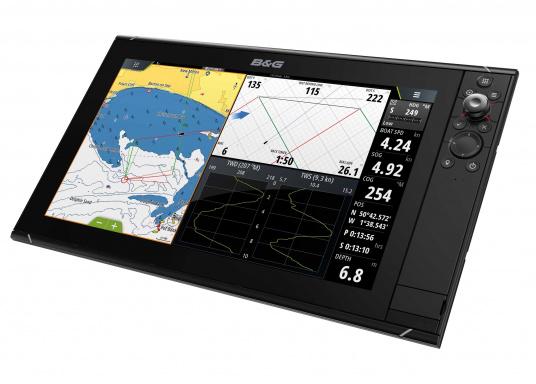 Der Zeus³ 16 ist ein einfach zu bedienendes Kartenplotter-Navigationssystem für Blauwassersegler und Regatta-Segler mit einem 16-Zoll Touchscreen-Display, leistungsstarker Elektronik, und einem großen Funktionsbereich, der speziell für den Segler entwickelt wurde. (Bild 2 von 4)