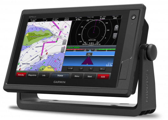 GPSMAP 922 chartplotter with a 9-inch touchscreen and intuitive controls, as well as NMEA2000 and NMEA0183 support.