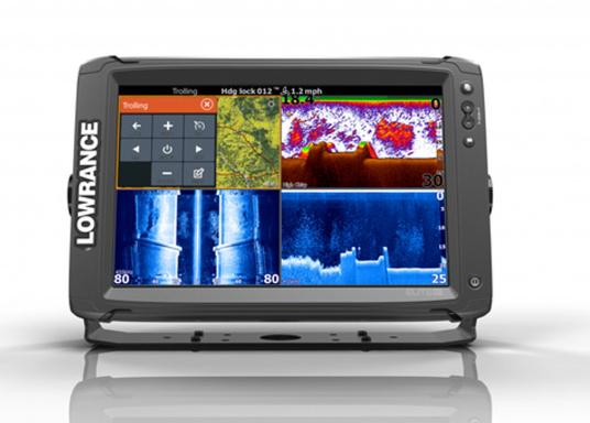 Lowrance® Elite-12Ti ist ein Touchscreen-Fischfinder/Kartenplotter, der eine breite Palette von Funktionen und Features bietet. (Bild 2 von 3)