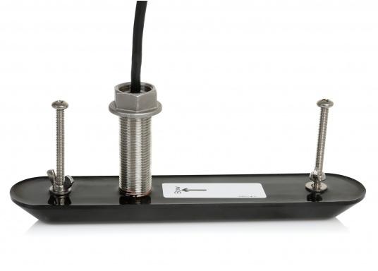 StructureScan HD Durchbruchgeber aus Kunststoff. Der Geber bietet SideScan und DownScan Technologie und arbeitet mit den Frequenzen 455/800 kHz. (Bild 2 von 2)