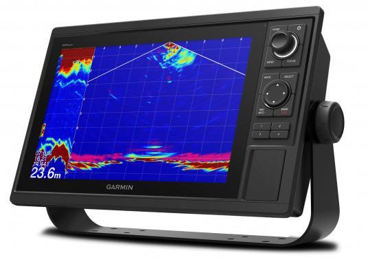 Das GPSMAP 1222xsv-Kombigerät mit Tasten und 12 Zoll großem Display bietet eine erweiterte Komplettlösung. Unterstützung für Garmin CHIRP-, CHIRP ClearVü- und CHIRP SideVü-Echolotfunktionen ist ab Werk integriert. (Bild 3 von 5)