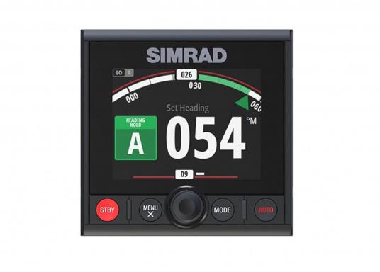 Der AP44 Autopilot-Controller vereint Simrad Continuum Steuerungstechnologie mit einem vollen Farbdisplay, intuitiver Drehscheibe und Tastensteuerung sowie dem modernen Glass Helm-Styling. Befreien Sie die Hände von Steuerrad, cruisen Sie mit Komfort und entdecken Sie neue Möglichkeiten, nach Fisch zu suchen.