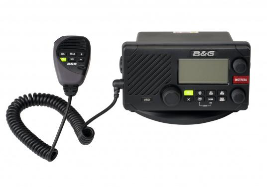 "The V50 VHF radio for dual-channel communication with AIS reception and VHF via a single antenna. The unique ""TrackYourBuddy"" function shows the position of up to three buddies.  (Afbeelding 2 of 6)"