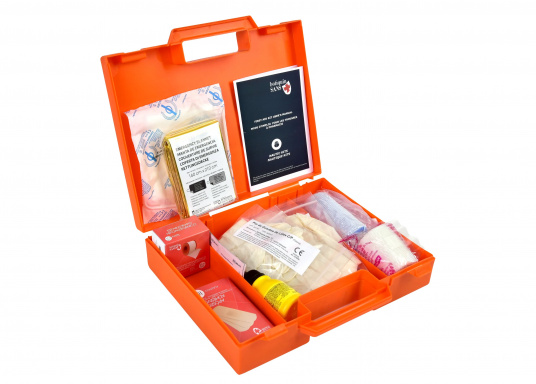 Erste-Hilfe-Koffer, der den französischen Vorschriften für das Binnengewässersegeln (D240 - Hauturier) entspricht. (Bild 2 von 3)