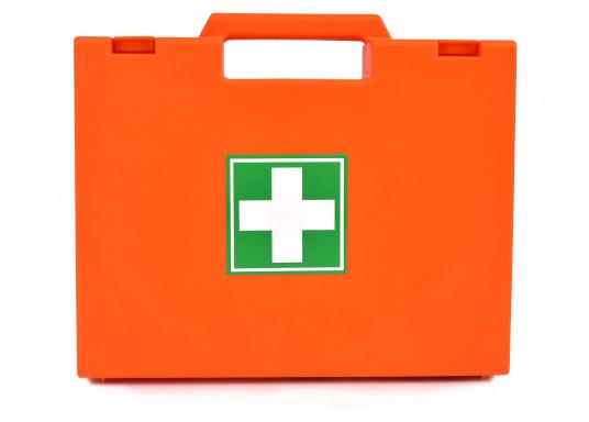 Erste-Hilfe-Koffer, der den französischen Vorschriften für das Binnengewässersegeln (D240 - Hauturier) entspricht.