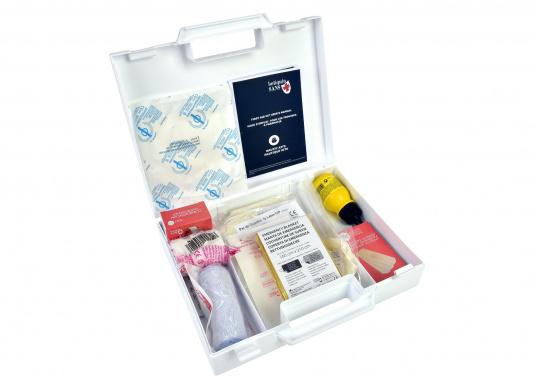 Erste-Hilfe-Koffer, der den französischen Vorschriften für das Segeln bis 6 Seemeilen von der Küste (D240 - Hauturier) entspricht. (Bild 2 von 3)