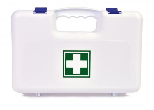 Erste-Hilfe-Koffer, der den französischen Vorschriften für das Segeln über 6 Seemeilen vor der Küste (D240 - Hauturier) entspricht.