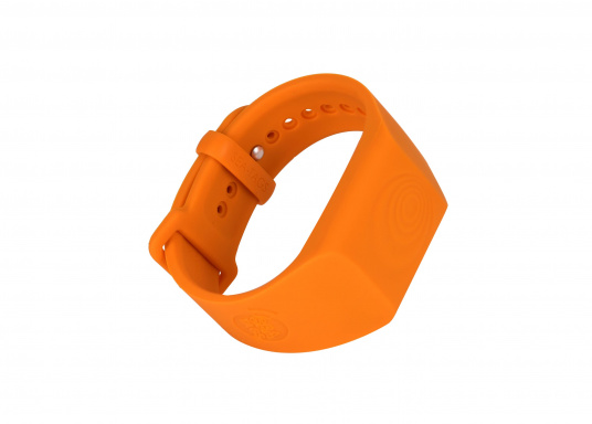 Sea-Tags wristbands continuously transmit a signal that is monitored by one or more telephones equipped with the application. If a wristband is immersed or far away, the signal is interrupted and the telephone(s) trigger an alarm and record the GPS position at the time of the incident. The system is fail safe. (Afbeelding 2 of 13)