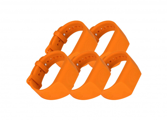 Sea-Tags wristbands continuously transmit a signal that is monitored by one or more telephones equipped with the application. If a wristband is immersed or far away, the signal is interrupted and the telephone(s) trigger an alarm and record the GPS position at the time of the incident. The system is fail safe.