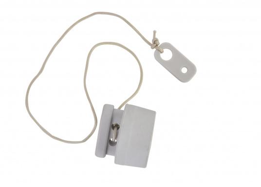 Kunststoff Luftventil Schlüssel 8-Nut Schlüssel Für Schlauchboote Grau