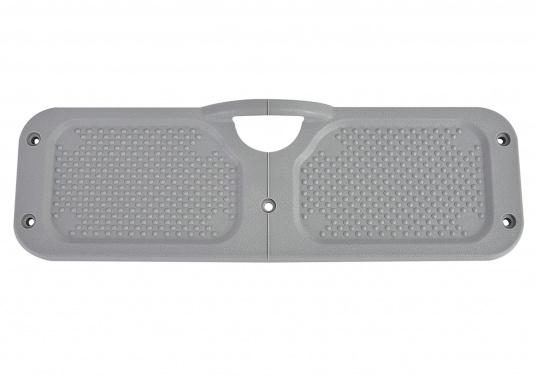 Originale Motordruckplatte für den Innenbereich des Heckspiegels Ihres SEATEC Schlauchbootes. Passend für jedes Schlauchboot von SEATEC, außer das NEMO 230. Farbe: grau. Abmessungen: 304 x 95 mm. (Bild 2 von 2)