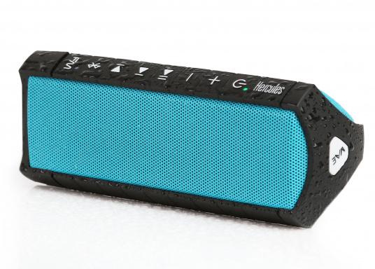 """Der vollausgestattete Funklautsprecher für all jene die sich gerne auf oder am Wasser aufhalten. Der Bluetoothlautsprecher ist Staub-, sand-, wasser-, schneedicht sowie """"Oceanproof"""" (tauchfest) und verfügt über ein eingebautes UKW-Radio!"""