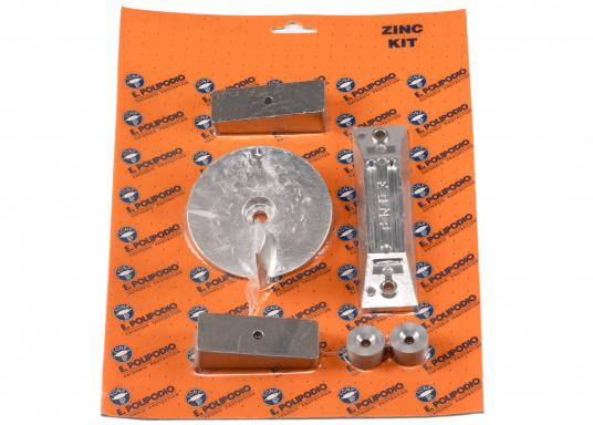 Anoden - Set für HONDA Außenborder. Erhätlich in Zink und in Aluminium. Das Set besteht aus den Bestandteilen: HN006, HN003, HN005 und HN012. (Bild 2 von 3)