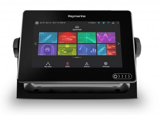 Ein leistungsfähiges neues Multifunktions-Navigationssystem von Raymarine. Mit dem neuen LightHouse 3 Betriebssystem und der glänzenden schnellen Quad-Core-Performance, wird Axiom Ihre Zeit auf das Wasser verändern. (Bild 3 von 11)