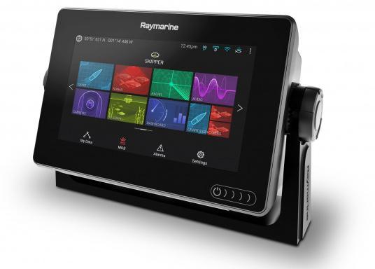 Ein leistungsfähiges neues Multifunktions-Navigationssystem von Raymarine. Mit dem neuen LightHouse 3 Betriebssystem und der glänzenden schnellen Quad-Core-Performance, wird Axiom Ihre Zeit auf das Wasser verändern. (Bild 7 von 11)