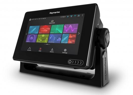 Ein leistungsfähiges neues Multifunktions-Navigationssystem von Raymarine. Mit dem neuen LightHouse 3 Betriebssystem und der glänzenden schnellen Quad-Core-Performance, wird Axiom Ihre Zeit auf das Wasser verändern. (Bild 5 von 10)