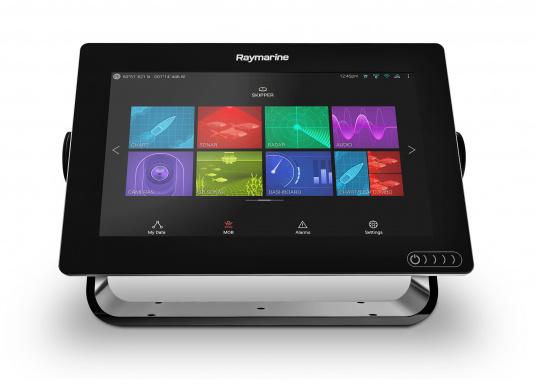 Ein leistungsfähiges neues Multifunktions-Navigationssystem von Raymarine. Mit dem neuen LightHouse 3 Betriebssystem und der glänzenden schnellen Quad-Core-Performance, wird Axiom Ihre Zeit auf das Wasser verändern. Im Lieferumfang ist eine Navionics+ Small Download Seekarte enthalten. (Bild 2 von 9)