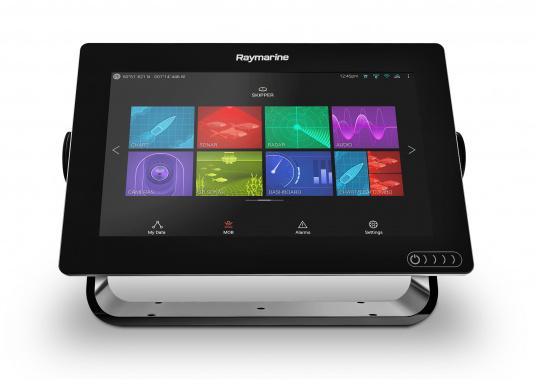 Ein leistungsfähiges neues Multifunktions-Navigationssystem von Raymarine. Mit dem neuen LightHouse 3 Betriebssystem und der glänzenden schnellen Quad-Core-Performance, wird Axiom Ihre Zeit auf das Wasser verändern. (Bild 3 von 10)