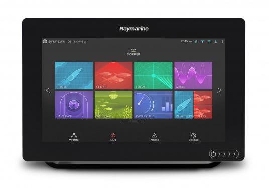 Ein leistungsfähiges neues Multifunktions-Navigationssystem von Raymarine. Mit dem neuen LightHouse 3 Betriebssystem und der glänzenden schnellen Quad-Core-Performance, wird Axiom Ihre Zeit auf das Wasser verändern. (Bild 9 von 10)